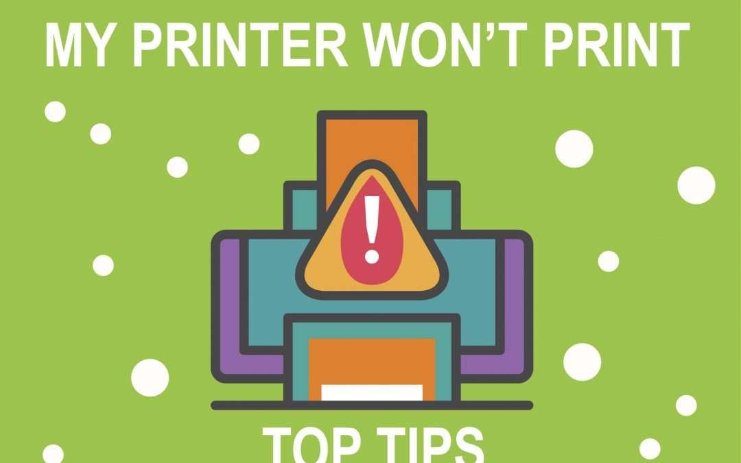Jolly IT's Anniversary Tip #2: Help! My printer won't print!