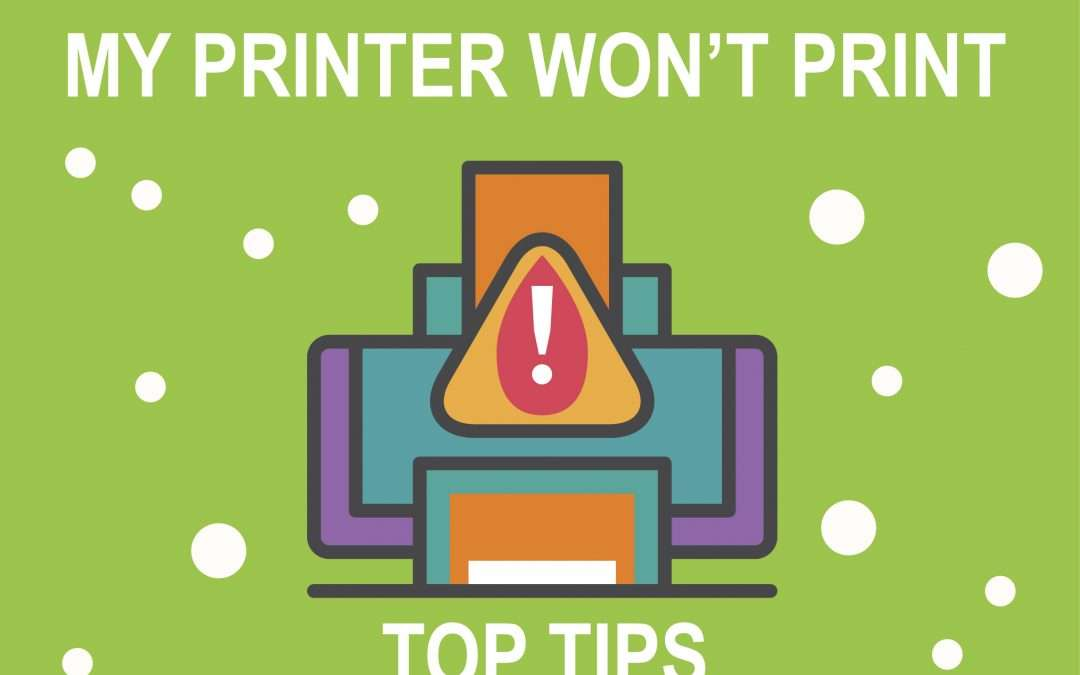 Jolly IT's Anniversary Tip #2: Help! My printer won't print!